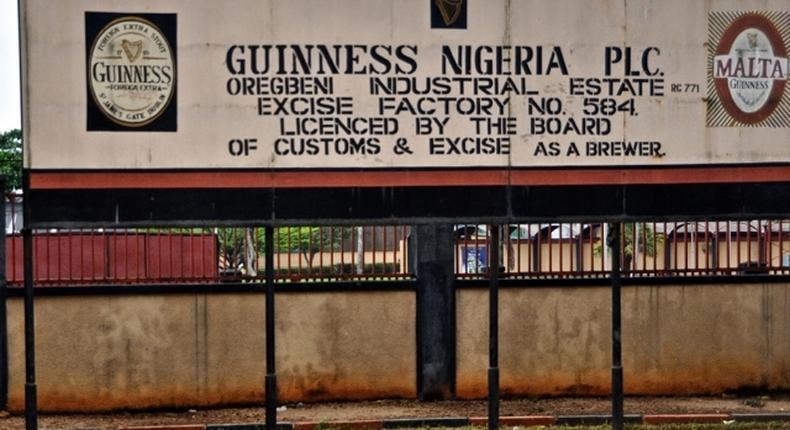 Guinness Nigeria factory signpost