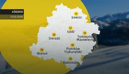 Prognoza pogody dla woj. łódzkiego - 13.03