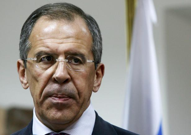 Szef rosyjskiej dyplomacji Siergiej Ławrow.