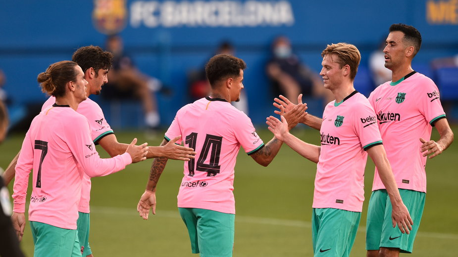 Zawodnicy zespołu FC Barcelona
