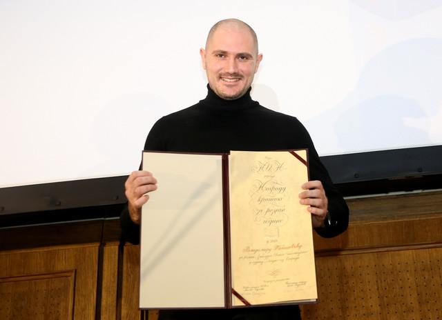 Vladimir Tabašević sa NIN-ovom nagradom