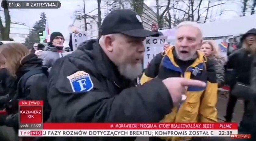 Tak potraktowano dziennikarzy TVP pod Sejmem