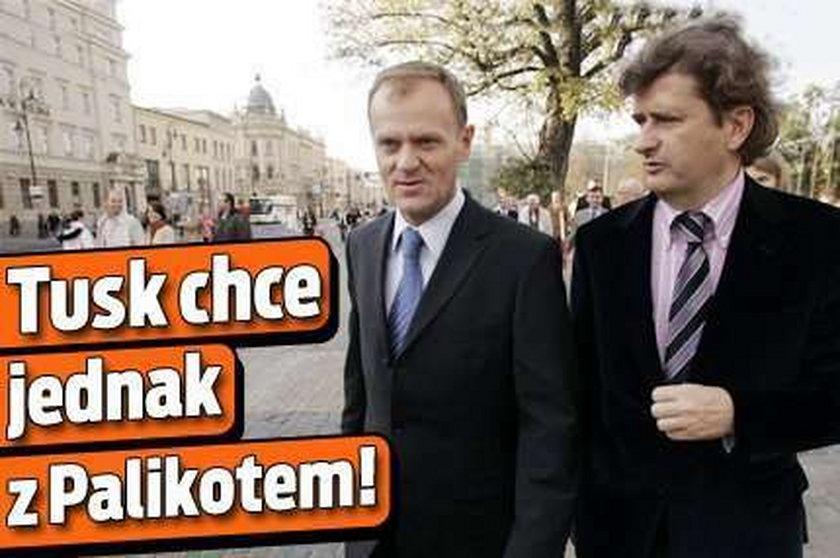 Tusk chce jednak z Palikotem!