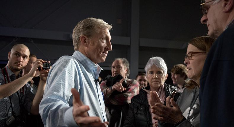 Billionaire Tom Steyer may enter the 2020 field as Rep. Eric Swalwell bows out