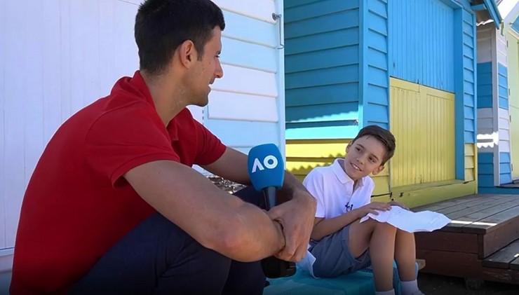 Novak Đoković i dečak Australijan open