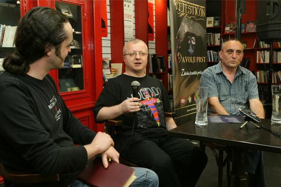 Dejan Ognjanović i Vlada Arsić na tribini
