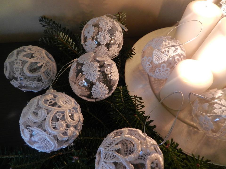 Ozdoby choinkowe ręcznie robione i cotton balls DIY   Dom