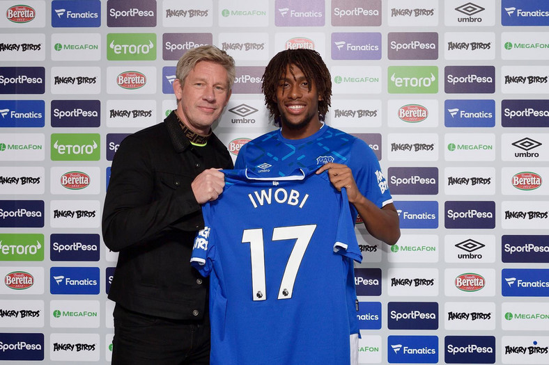 Alex Iwobi joined Everton on English summer transfer deadline day (Everton)