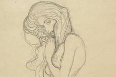 """klimt sile1 Gustav Klimt, Ženski akt koji stoji (studija za Tri gorgone sa """"Betovenovog friza""""), 1901."""