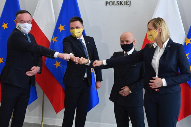 Szymon Hołownia, Michał Kobosko, Hanna Gill-Piątek, Jacek Bury