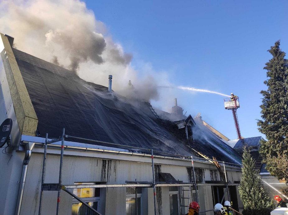 Pożar w Aleksandrowie Łódzkim