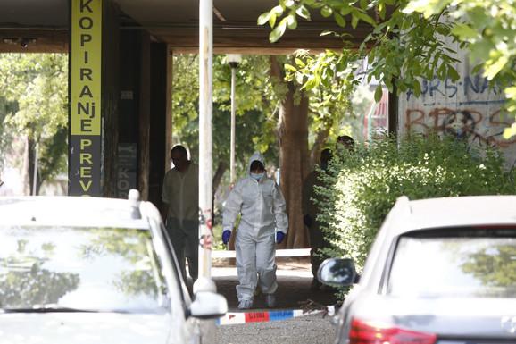 Uviđaj na mestu na kom je ubijen Darmanović