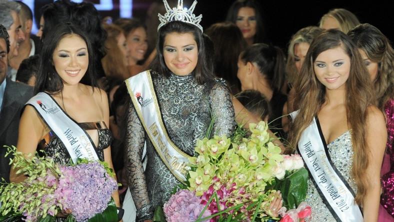 Piękna Serbka (w środku) została Miss World Next Top Model 2012; Rosjanka (po prawej) zdobyła tytuł I wicemiss, a Tajka (po lewej) - II wicemiss