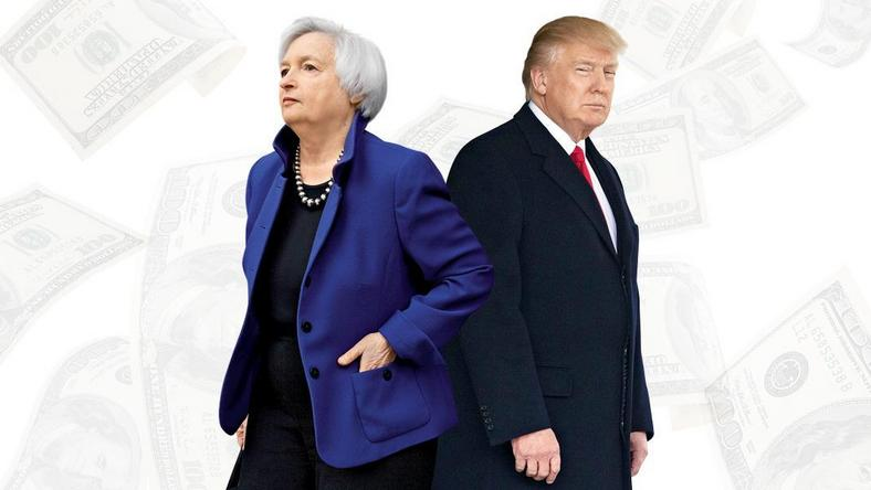 Janet Yellen i Donald Trump