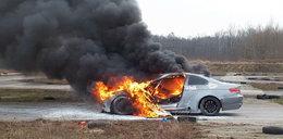 Dramat niepełnosprawnego rajdowca. Auto stanęło w ogniu