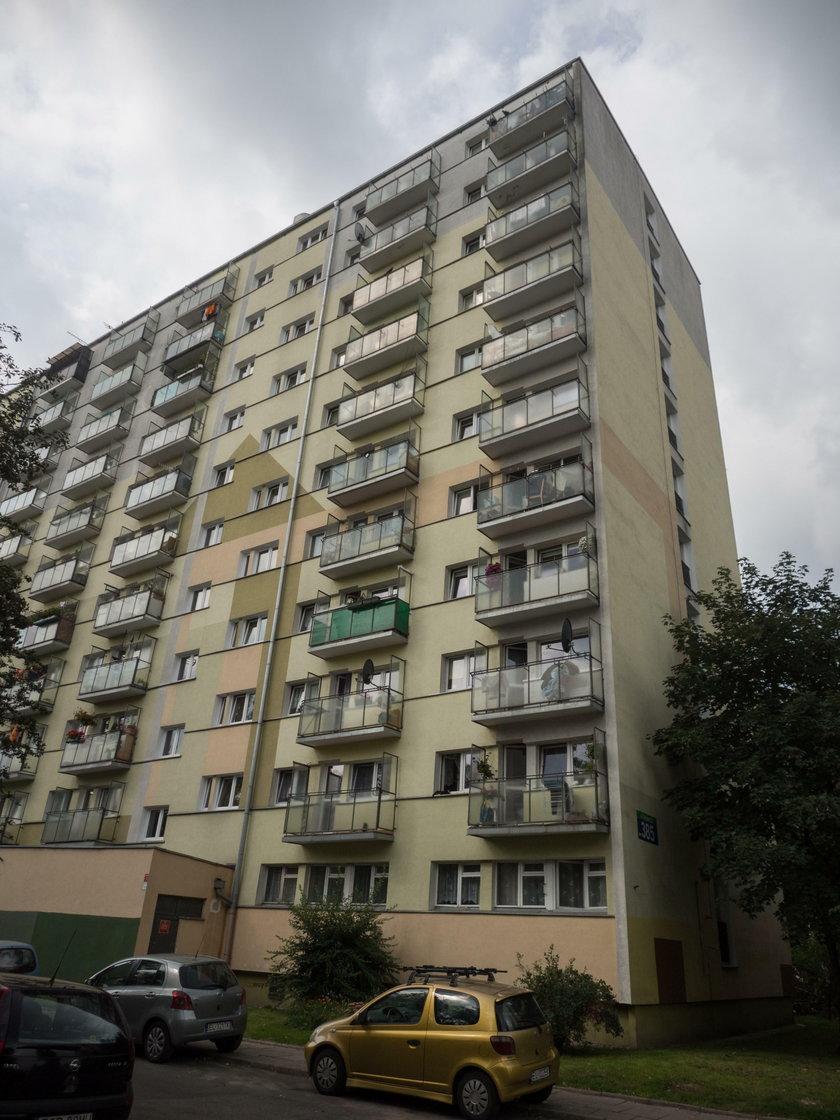 Blok, w którym została zabita Kaja Wiśniewska