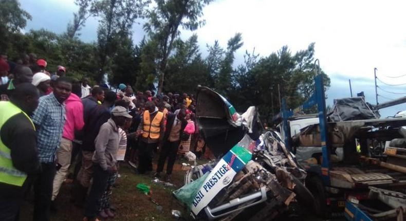 Passengers dead after Matatu crashed into Lorry