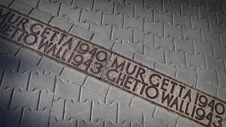Miejsce, w którym ustawiony był mur wokół getta warszawskiego