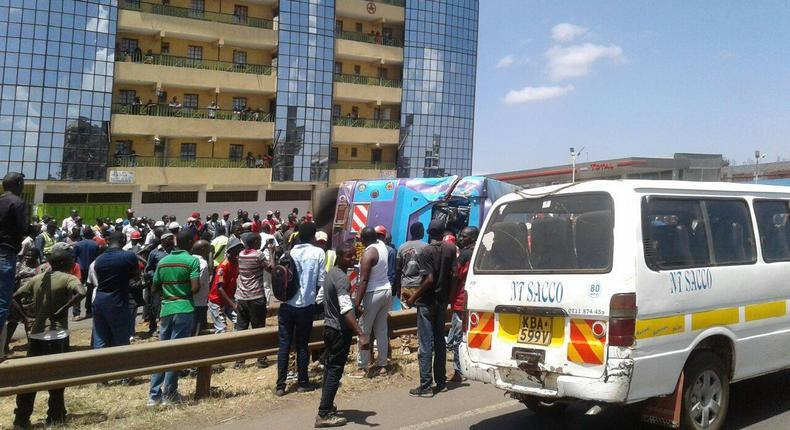 File image of a Joy Kenya bus involved in an accident. Buses belonging to the company have been involved in a series of accidents that raise concerns