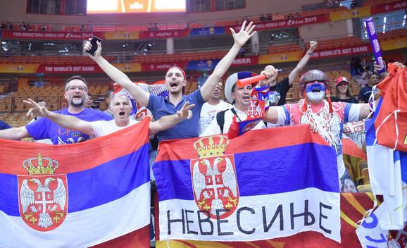 Radost naših navijača u Vuhanu