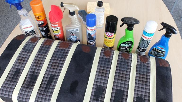 Test środków do czyszczenia tapicerki