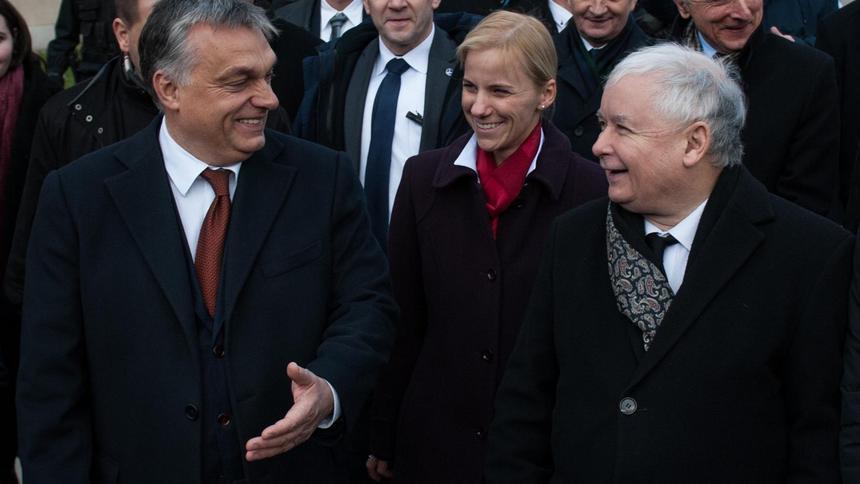 Znalezione obrazy dla zapytania orban i kaczyński
