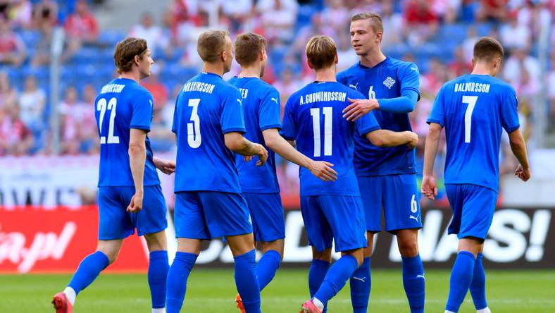 Radość piłkarzy Islandii