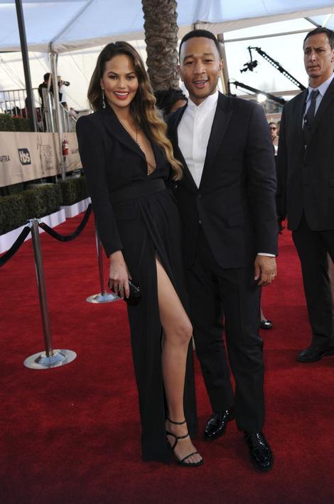 Krisi Tajgen sa suprugom