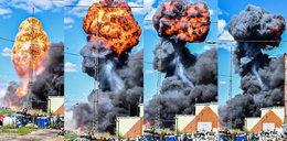 Potężny ognisty podmuch nad Kutnem! Zdjęcia budzą grozę