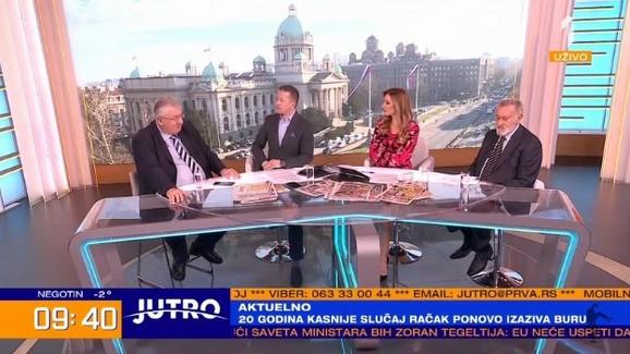 Jovana Joksimović i Vojislav Šešelj u jutarnjem programu