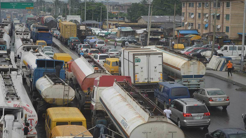 Traffic gridlock caused by articulated trucks on Lagos roads has been a source of headache for the government for years [Guardian]