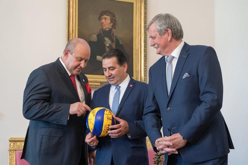 Prezydent Andrzej Dudy spotkał się w z trenerem Ferdinando De Giorgim