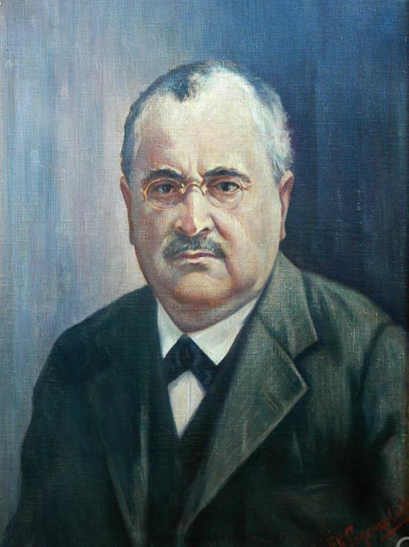 Borivoje K. Radenković, Portret Joce Vujića, 1933. Univerzitetska biblioteka u Beogradu