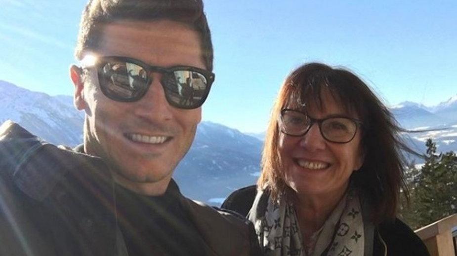 Robert Lewandowski z mamą Iwoną