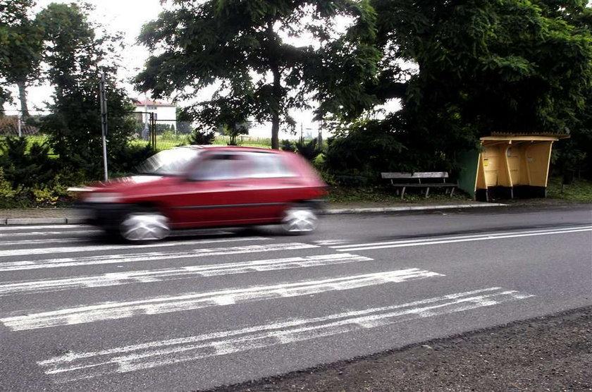 Wypadek na przejściu dla pieszych