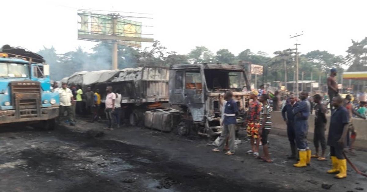 2 die, 17 vehicles burnt in Sango-Ota tanker accident - Pulse Nigeria