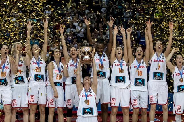 Ženska košarkaška reprezentacija Španije slavi evropsku titulu