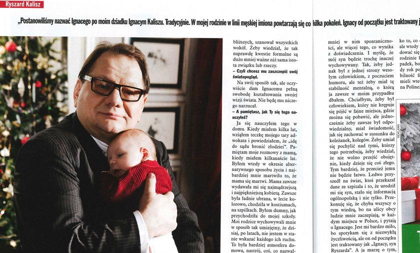 Ryszard Kalisz: Przyszła na świat najbliższa mi osoba