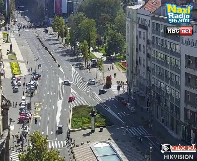 Trg Nikole Pašića je blokiran