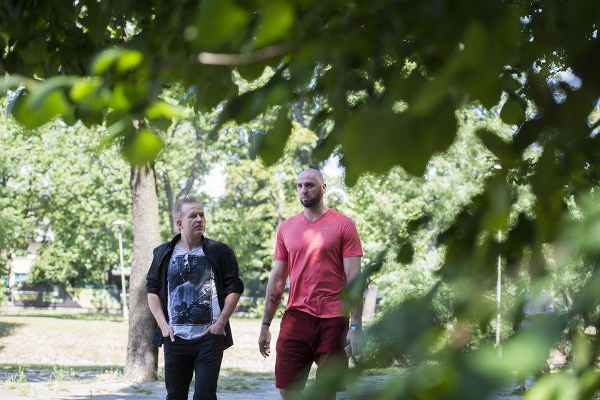 Marcin Gortat i Michał Bryś