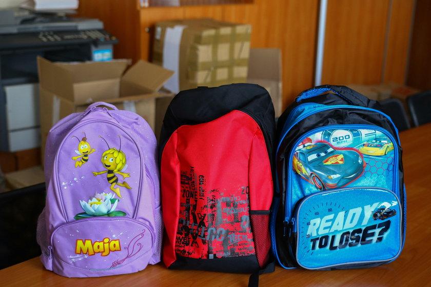 Kupiliśmy plecaki dla dzieci z Rytla