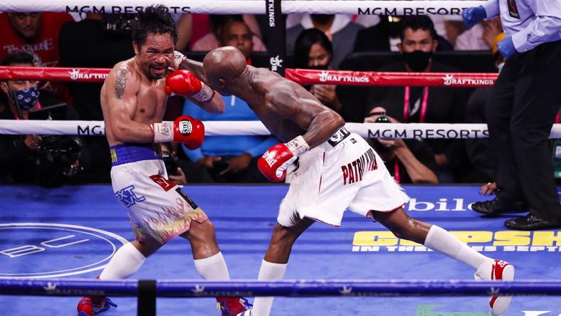 Pojedynek Manny'ego Pacquiao (L) i Yordenisa Ugasa (P)