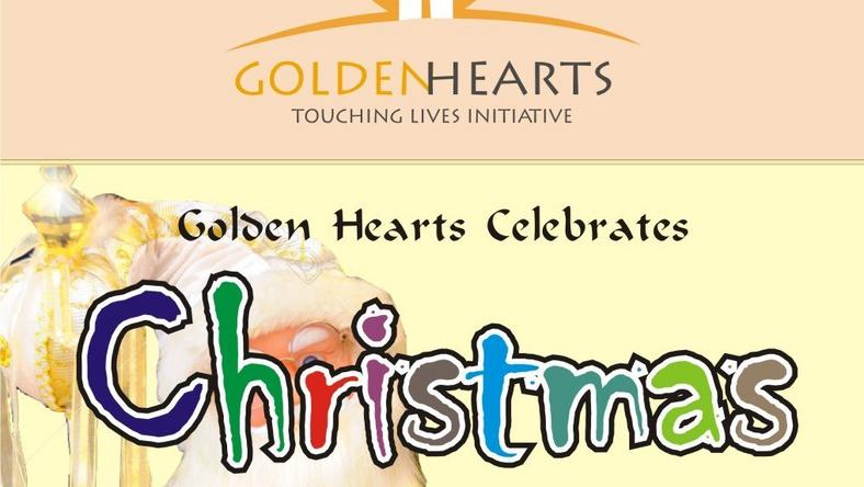 Golden heart celebrates Christmas with special kids