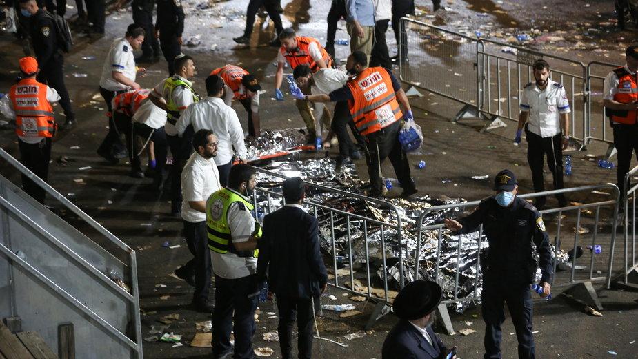 Tragedia w Izraelu po zawaleniu się trybuny podczas święta religijnego