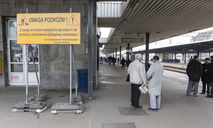 Remont peronów w Poznaniu