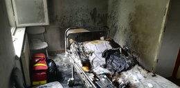 Tragiczny pożar na oddziale psychiatrycznym. Pacjentka podpaliła swoje łóżko?