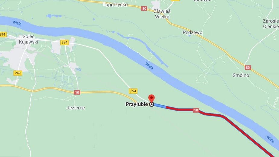 Kujawsko-Pomorskie: Wypadek na DK10 w Przyłubiu. Droga jest zablokowana