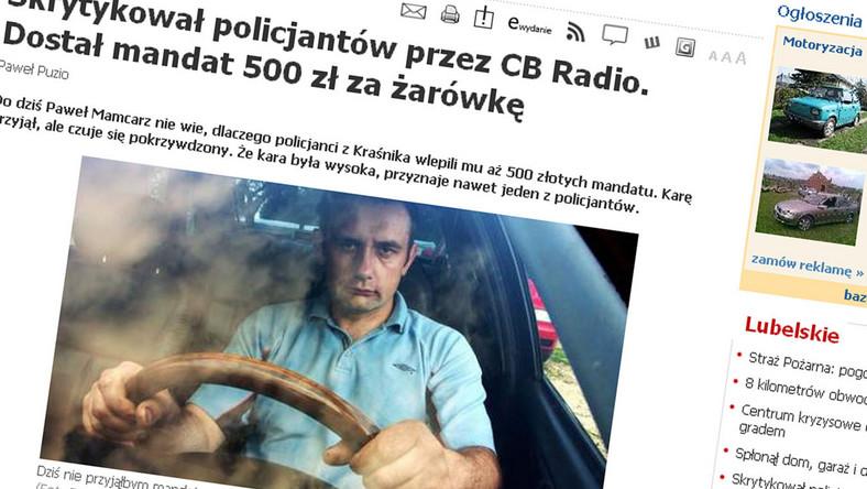 500 złotych za komentarz przez CB radio
