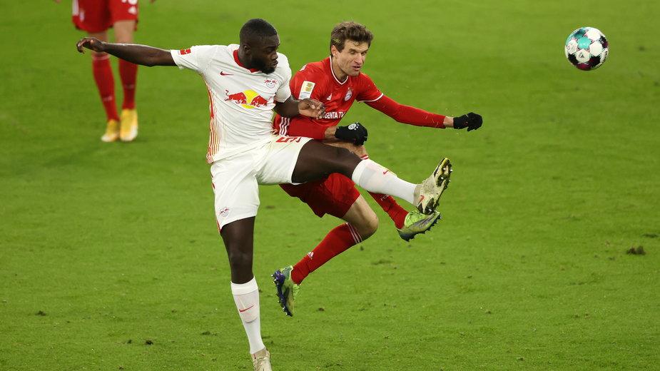 Dayot Upamecano w meczu z Bayernem Monachium