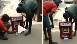 Little boy makes ATM that dispenses cash (video)